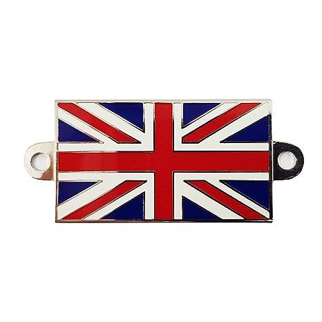 Insignia de metal Union Jack con agujeros para tornillo para barcos, coches clásicos, motocicletas