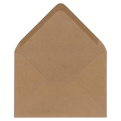 10 Stück Retro Brown Craft Kraftpapier Umschlag Retro Umschläge Einladung Brief
