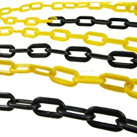 Cadena de plástico negra y amarilla de 6