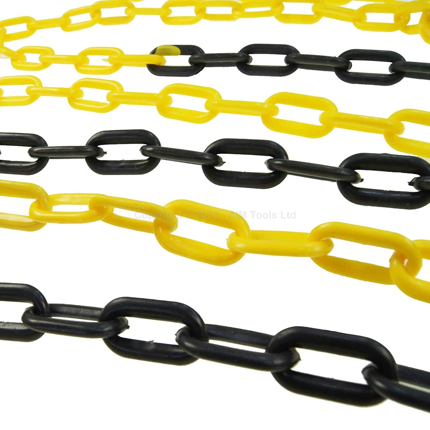 Black and yellow barrier Plastic Chain 6mm 6meters KATSU Tools