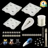 Anself 4pcs DIY Jewelry Tool Silicone Pendant Mould Jewelry Crystal Making Mold