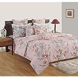 Swayam Caramel Collection Flat King Bedsheet Set, Pink, 260 x 270 cm, 13023K
