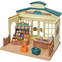 Calico Critters CC1788 Grocery Market Cream & Brown 11.42 Inches