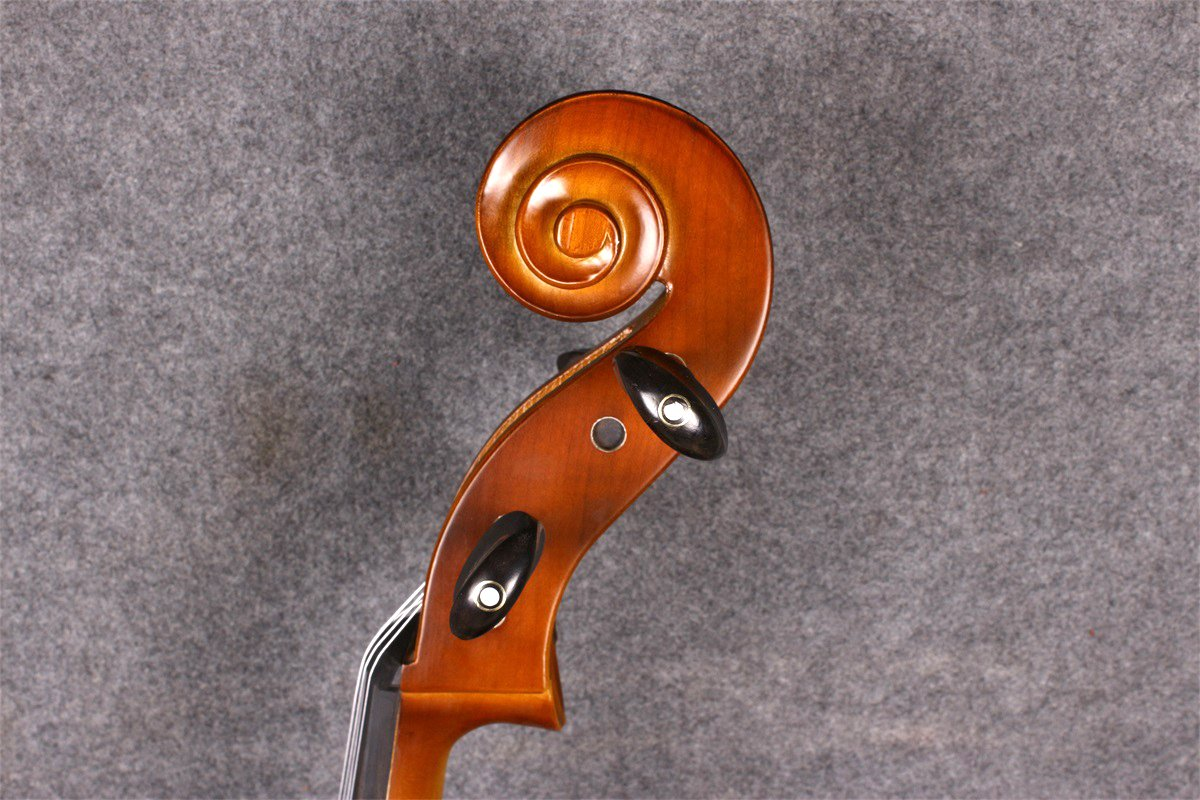 Yinfente Electric Acoustic Cello 4/4 Solid Maple Spruce wood Ebony Fittings Sweet Sound With Cello Bag Bow (Brown) by yinfente (Image #7)