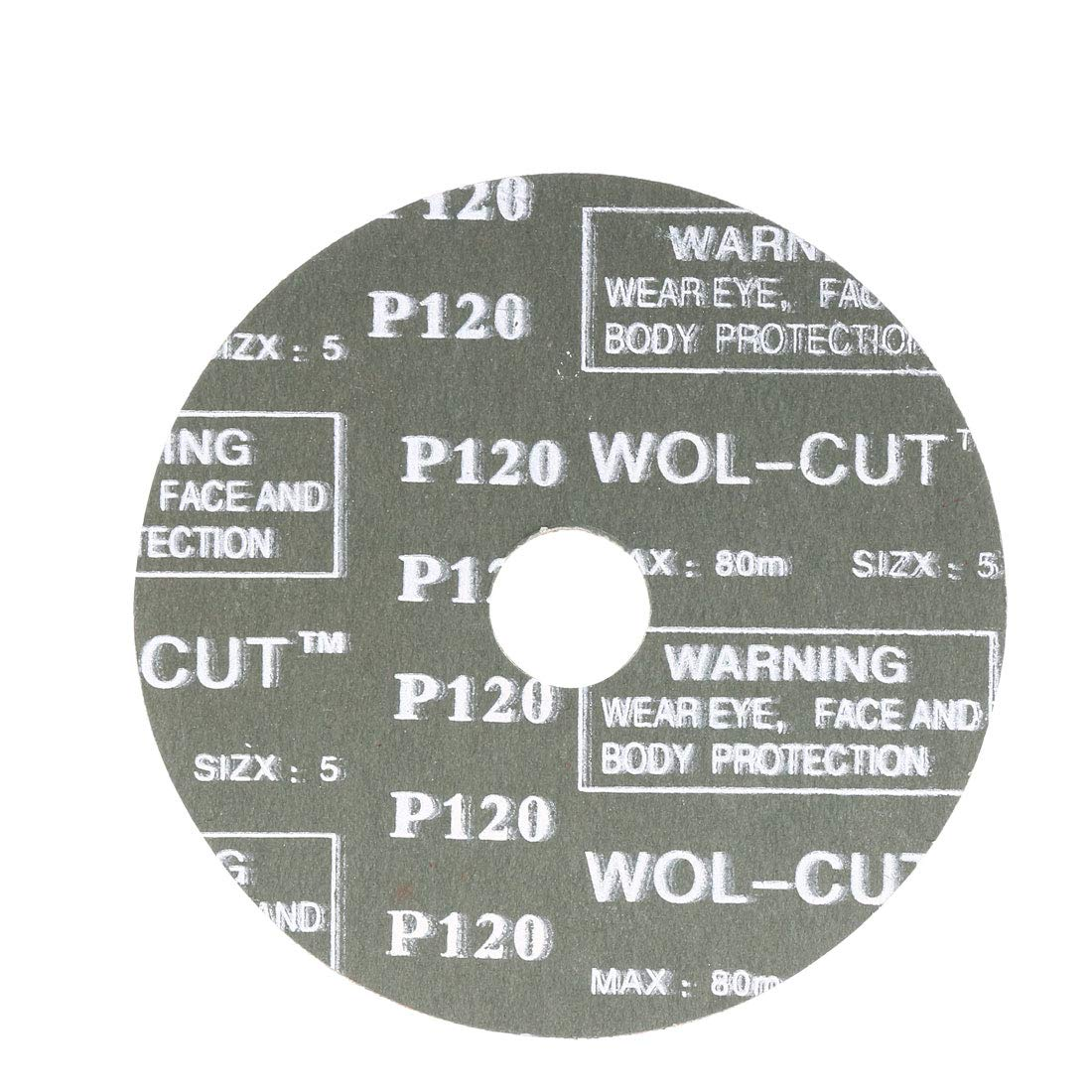 uxcell/® 4-Inch x 5//8-Inch Aluminum Oxide Resin Fiber Discs Center Hole 120 Grit Sanding Grinding Discs 10 Pack