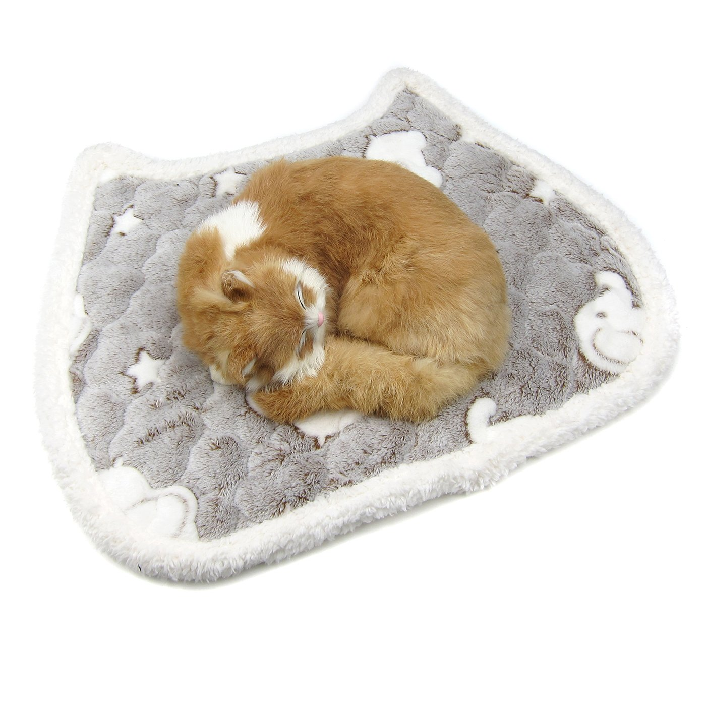 Alfie Pet by Petoga Couture - McKenna Self Warming Fleece Sleeping Mat for Dogs and Cats - Color: Grey