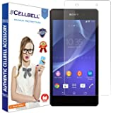 Cellbell Premium Tempered Glass Screen Protector for Sony Xperia Z2 (2.5D Curved Edges)(Clear)(Comes with Warranty)Complimentary Prep cloth/Bronze Edition