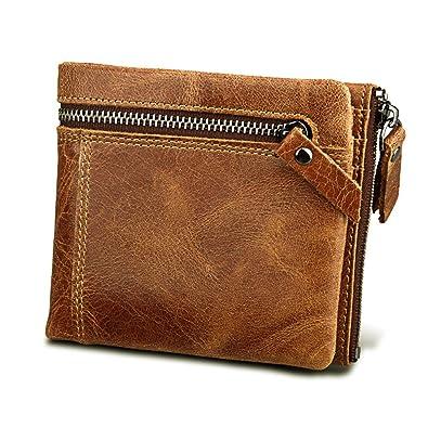 Amazon.com: pobu billeteras para los hombres Color café ...