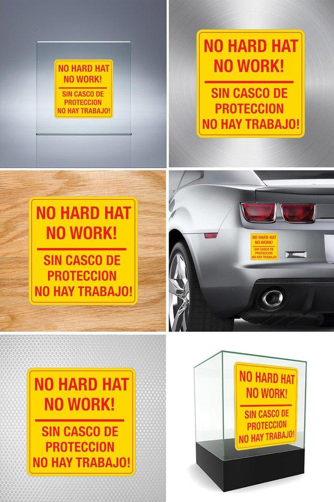 Amazon.com: Vinyl Sticker Decals No Hard Hat No Work! Sin Casco De Proteccion No Hay Trabajo! Sports Bike D217 A984X: Automotive