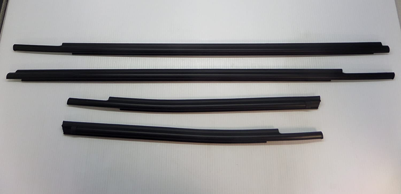 Toyota Tundra Double Cab 2007-2015 4pc Exterior Weatherstrip Belt Molding Set Genuine OE OEM
