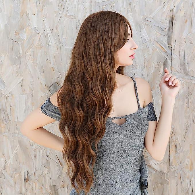 Peluca Mujer Larga Marrón Ondulada 22