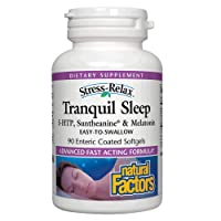 Stress-Relax Tranquil Sleep by Natural Factors, Sleep Aid with Suntheanine L-Theanine...