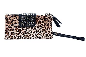 leegoal - Cartera de mano para mujer estampado de leopardo: Amazon.es: Zapatos y complementos