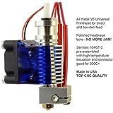 RepRap Champion All Metal V6 Universal Hotend for 1.75mm Filament 0.4mm Nozzle RepRap 3D Printer