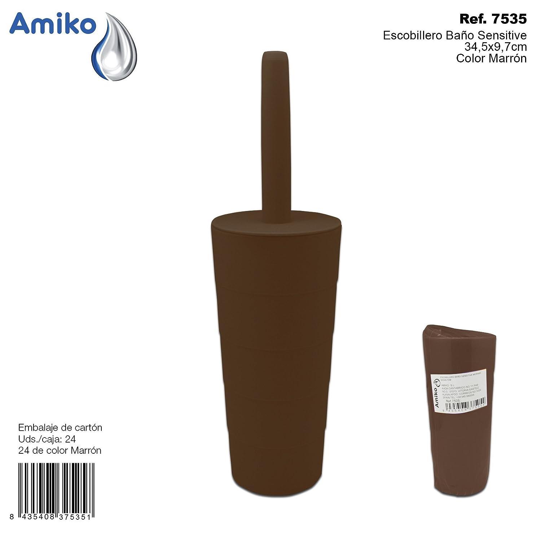 Amiko Escobillero Bañ o Sensitive Marró n 34, 5x9, 7cm