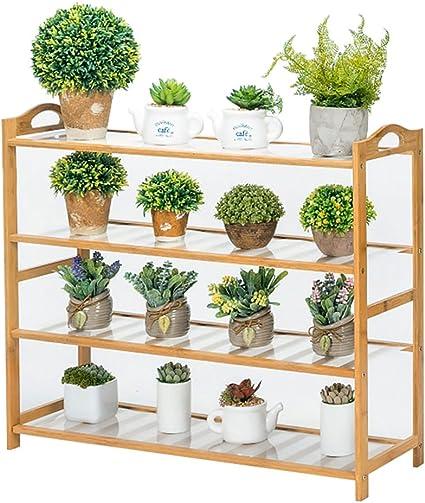 4 Tier Black Shelving Unit Storage Home Or Garden Shelf Display Outdoor Indoor