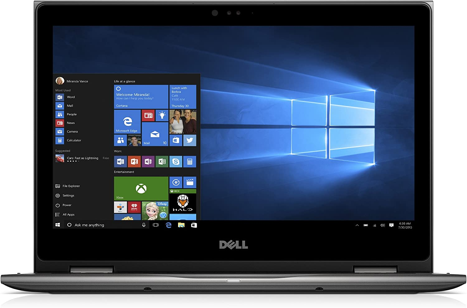 "Dell i5378-3031GRY-PUS Inspiron, 13.3"" 2-in-1 Laptop (7th Gen Core i3 (up to 2.40 GHz), 4GB, 1TB HDD), Intel HD Graphics 620, Theoretical Gray"