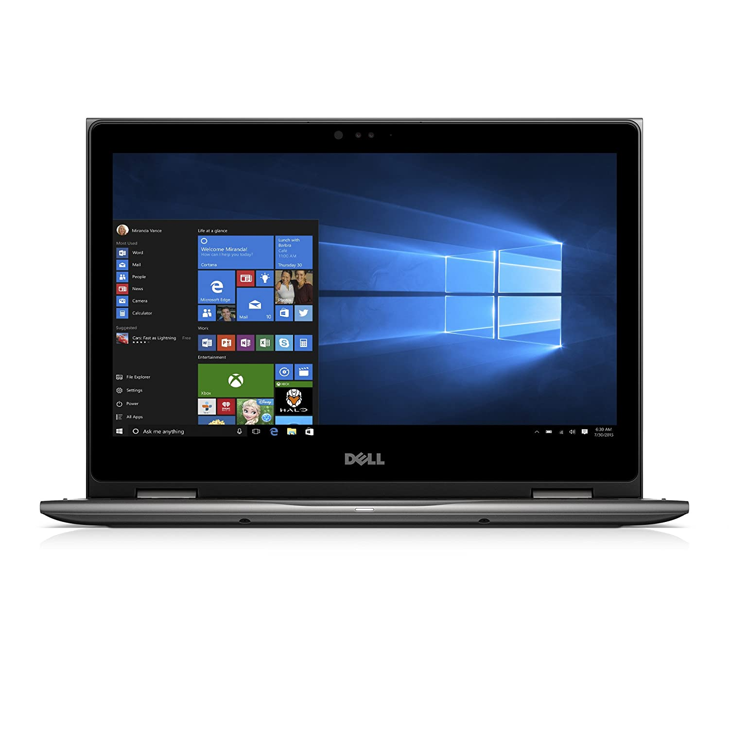 Dell Inspiron I5378 7171 Gry 13.3 Fhd 2 In 1 (7th Generation Intel Core I7, 8 Gb, 256 Gb Ssd) Microsoft Signature Image by Dell