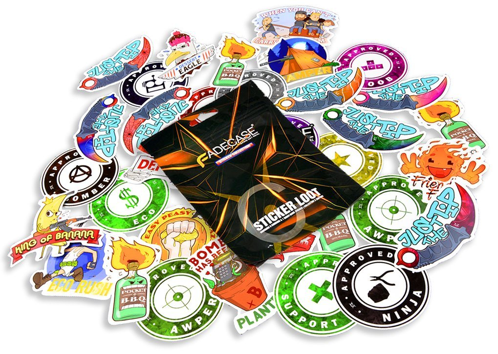 FadeCase CSGO Sticker Collection Series Pack - 10 Randomized Stickers for Counter Strike