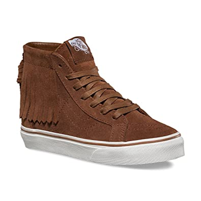 Vans Girls SK8-HI MOC Skateboarding Shoes (3 LITTLE KID M, MONKS ROBE