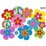 Amazon Fr Autocollants De Fleur Hippie Hippie Autocollants De