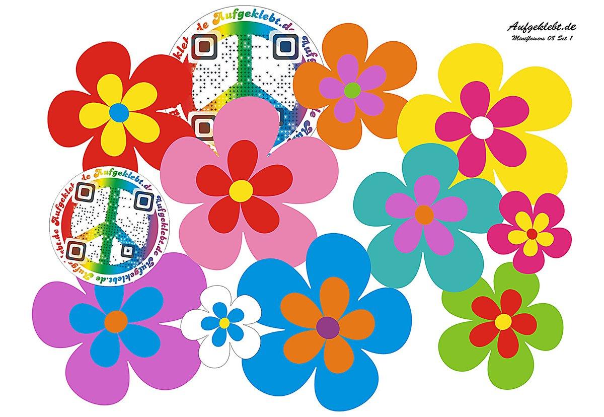 Autocollant pour voiture, Design?: Fleurs Mini 08?51 Piè ces ? Mé lange multicolore. Design?: Fleurs Mini 08?51Pièces?Mélange multicolore. aufgeklebt.de