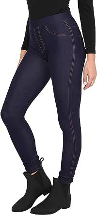 KRISP Jeggings Mujer Pantalones Cintura Alta Moda