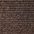 Heavy-Duty Ribbed Indoor/Outdoor Carpet with Rubber Marine Backing - Several Sizes Available - Carpet Flooring for Patio, Porch, Deck, Boat, Basement or Garage - Tuscan Brown