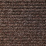 House, Home and More Heavy-Duty Ribbed Indoor/Outdoor Carpet with Rubber Marine Backing – Tuscan Brown 6′ x 10′- Carpet Flooring for Patio, Porch, Deck, Boat, Basement or Garage Review