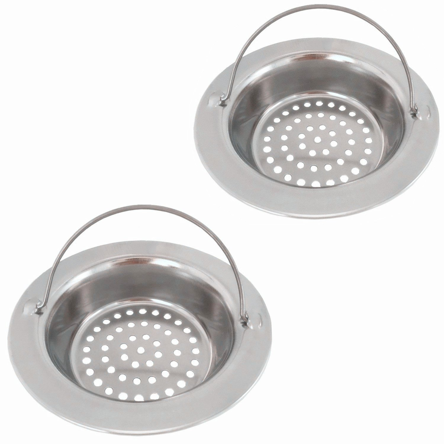 Fengbao 2PCS Stainless Steel Kitchen Sink Strainer Wide