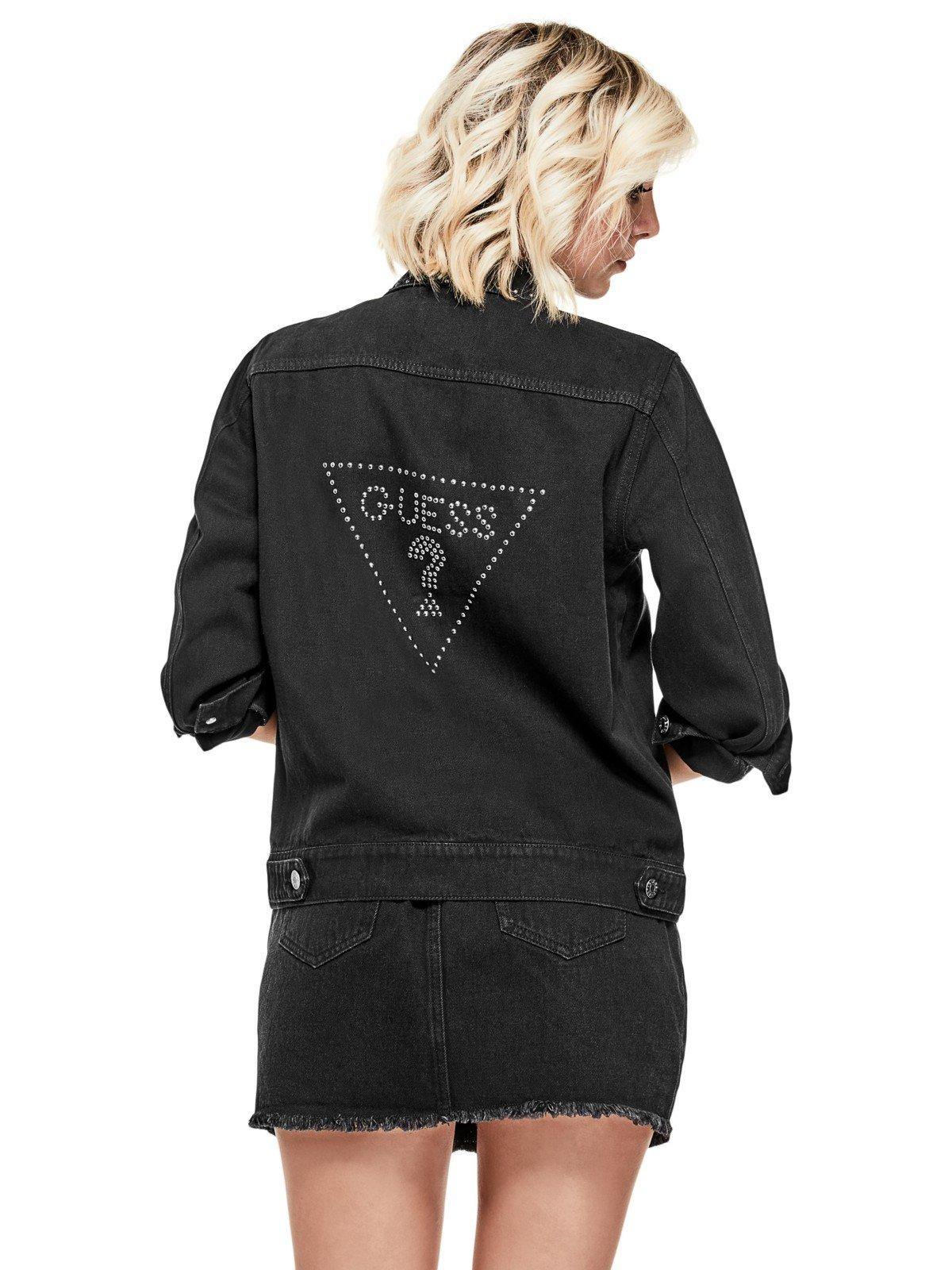 GUESS Factory Women's Nerissa Studded Denim Jacket