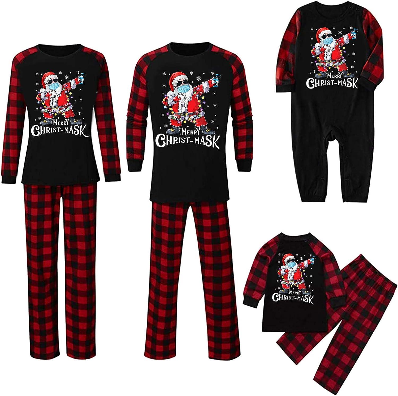 Christmas Family Matching Pajamas Set Santas Sleepwear Matching Family Christmas Pajamas 2020 Personalized Quarantine Survivor Santa with Face Mask Hand Sanitizer Toilet Paper a, baby-9month