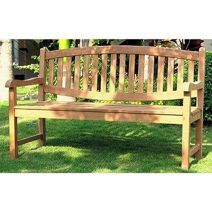 indoexim solid teak garden bench 48 - Garden Bench