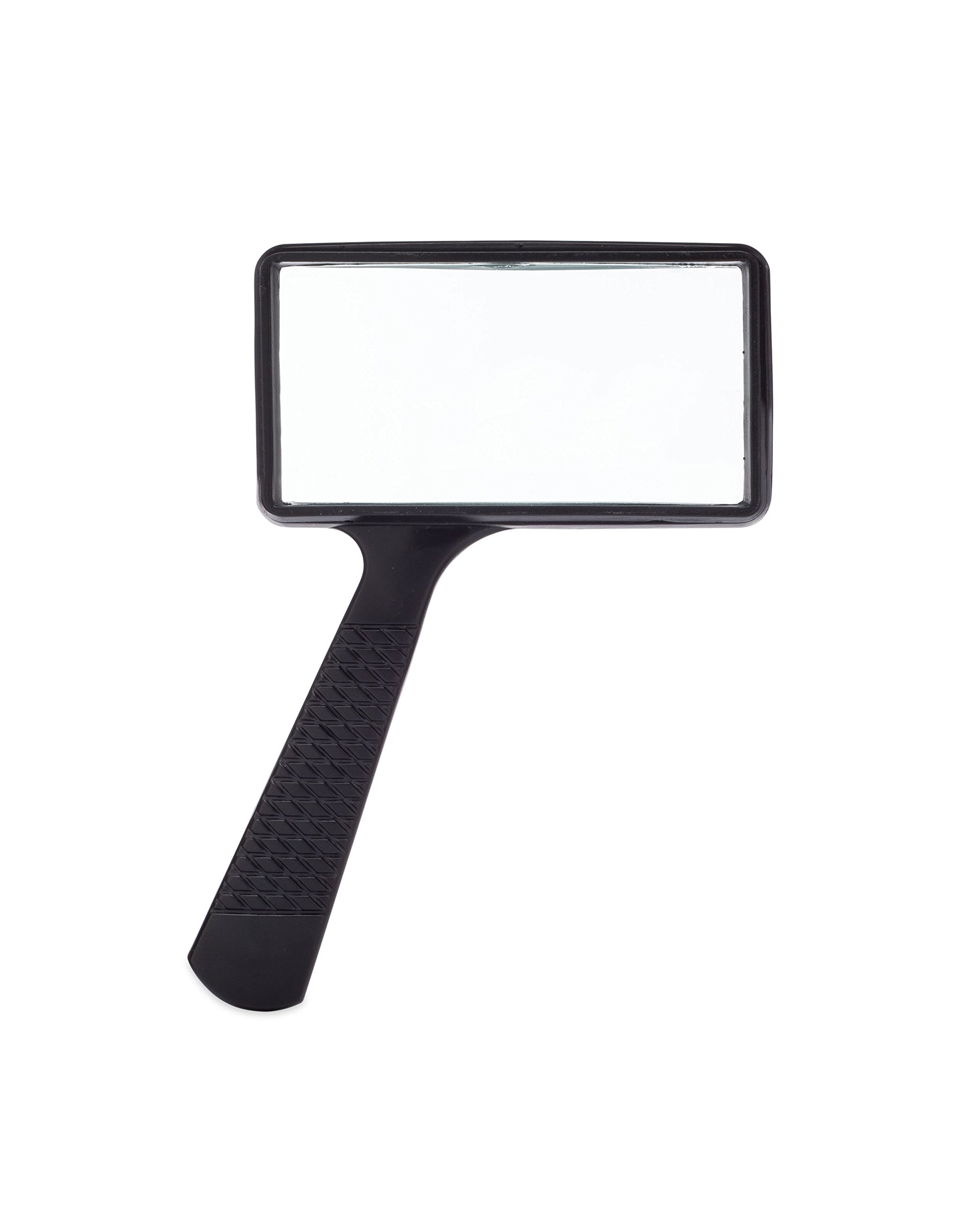Jumbo Rectangular Handheld Magnifying Glass (3X Magnification) – Scratch Resistant GLASS Lens - Large Horizontal Viewing Area by MagnifyLabs