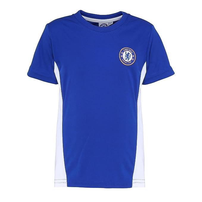 Chelsea FC - Camiseta Oficial Manga Corta para niños - Fútbol/Deporte/Gym/Running: Amazon.es: Ropa y accesorios