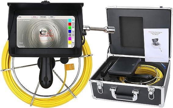 Wifi Rohr Inspektionskamera 10m Kabel Endoskope Inspektionskamera Abwasserkanal Industrie Endoskop Video Inspektionssystem Wasserdichtes Ip68 Mit Hd1080p Dvr Fotorecorder 7 Zoll Touchscreen Baumarkt