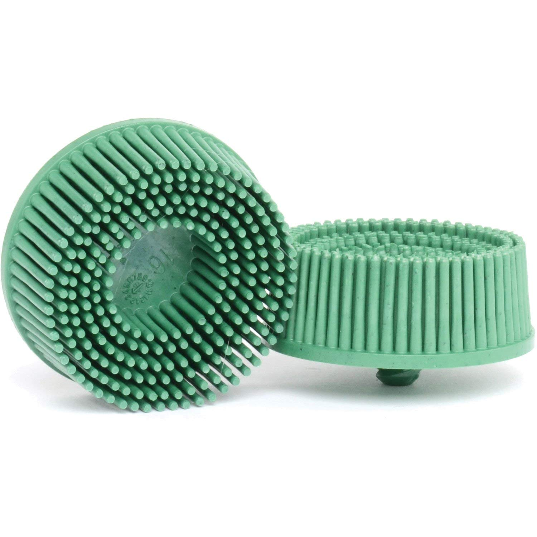 3M MMM7524 2'' Scotch-Brite Roloc Bristle Discs 50 Grit Coarse Green
