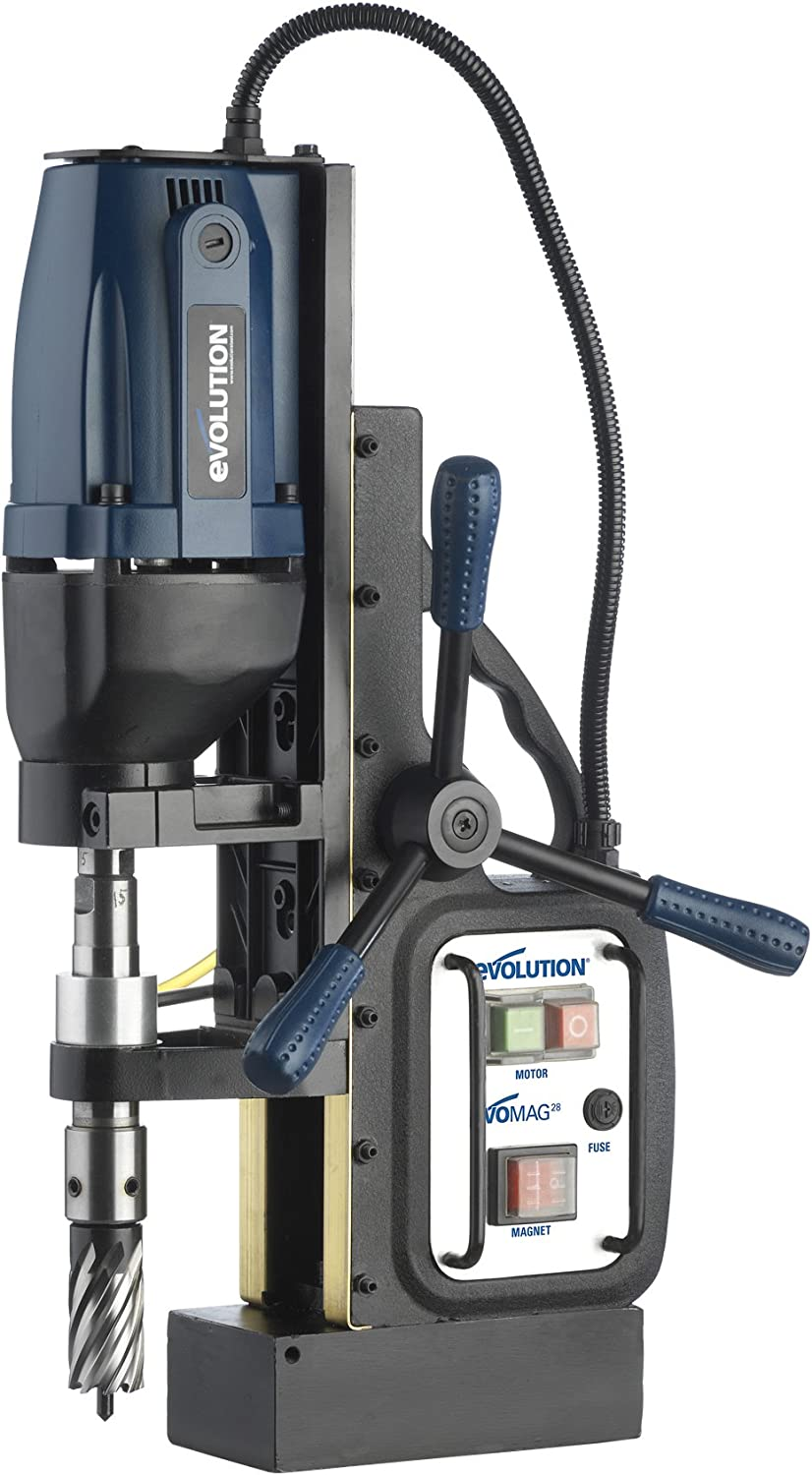 "Best Magnetic Drill Press: Evolution Power Tools EVOMAG28 1-1/8"" Magnetic Drill"