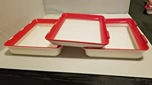 3 Piece Food Preservation Tray set- 2 Deep and 1 Slim