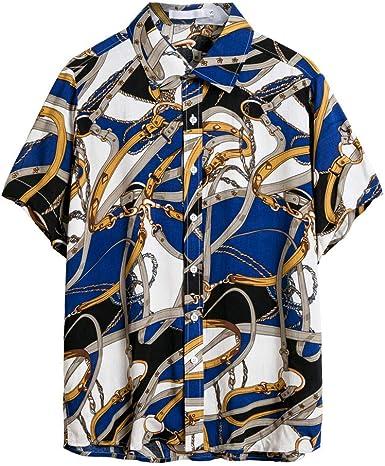 Camisa de Hombre Camisa Vaquera para Verano Camisa de Estilo Retro, Camiseta Casual de Manga Corta, Varios Estilos(Cada Estilo Tiene 6 Tallas): Amazon.es: Ropa y accesorios