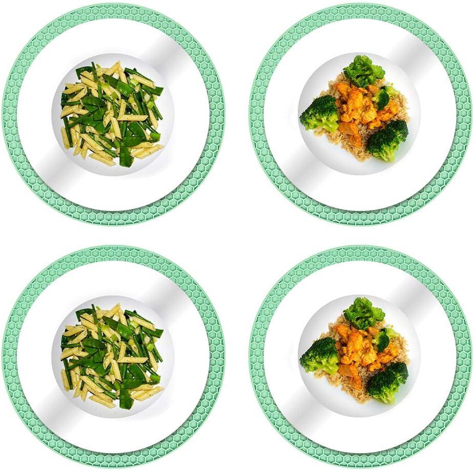 repose-cuill/ère pour la cuisine et le d/îner Lot de 4 dessous de verre en silicone antid/érapant r/ésistant /à la chaleur pour plats chauds 18 x 18 cm bleu casseroles et po/êles