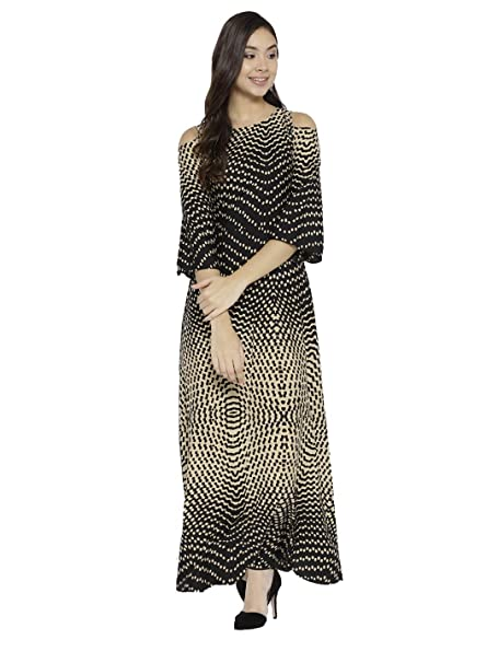 3c4d45e5891 cottinfab Women Cold Shoulder Maxi Dress  Amazon.in  Clothing   Accessories