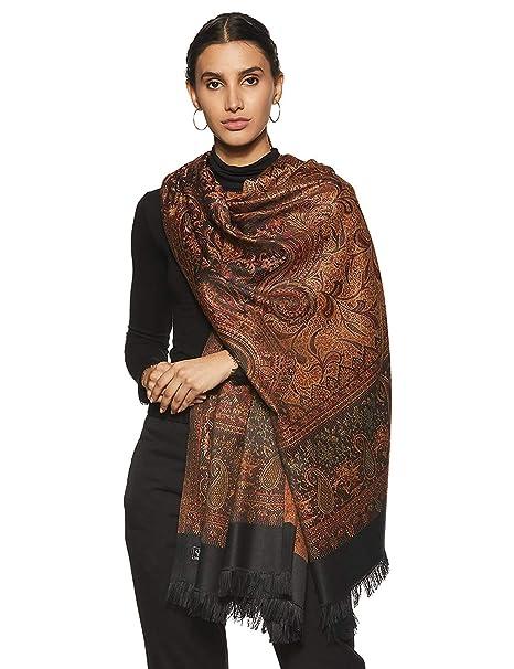 check-out 70ab5 496c0 Weavers Villa Women's Pashmina Wool Blend Indian Handicraft Woven Shawls,  Scarf, Wraps [Large Size: 40