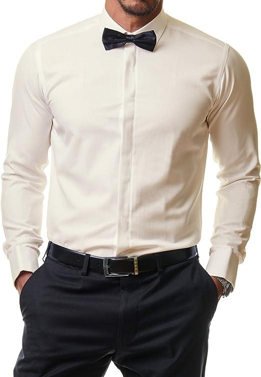 44 Fliege Business Hemd Hemden mit Fliege Anzug Hochzeit