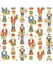 Caspari Entertaining with Continuous Roll of Gift Wrapping Paper, Nutcracker Parade, 8', 1-Roll, Red