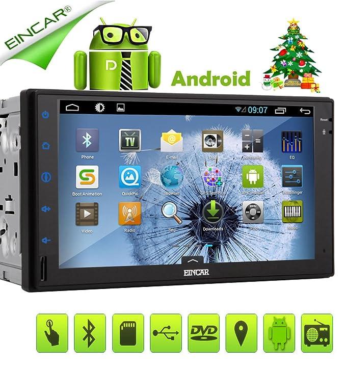 EinCar Android 5.1 Lollipop GPS Auto NO-DVD estéreo VBT Audio Car PC RDS del coche reproductor de vídeo Doble Din Electrónica Radio Receptor de audio ...