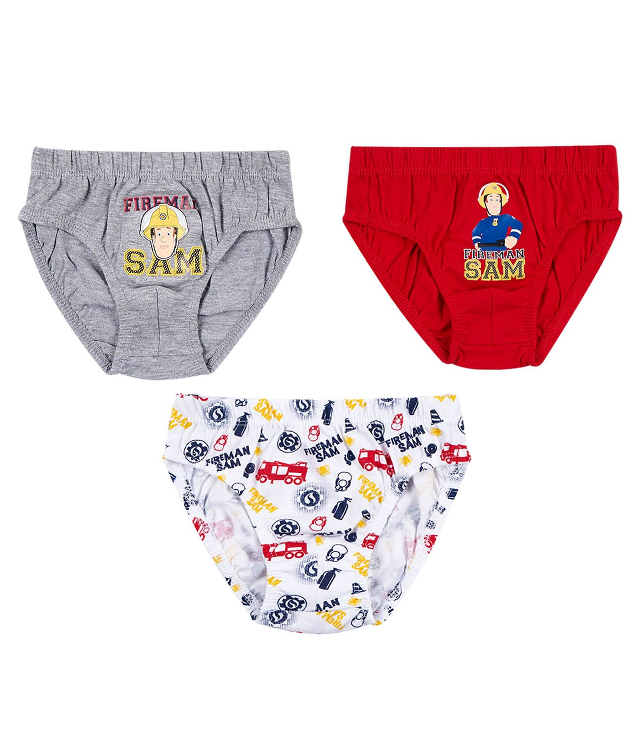 Fireman Sam Boys 3 pack brief - red