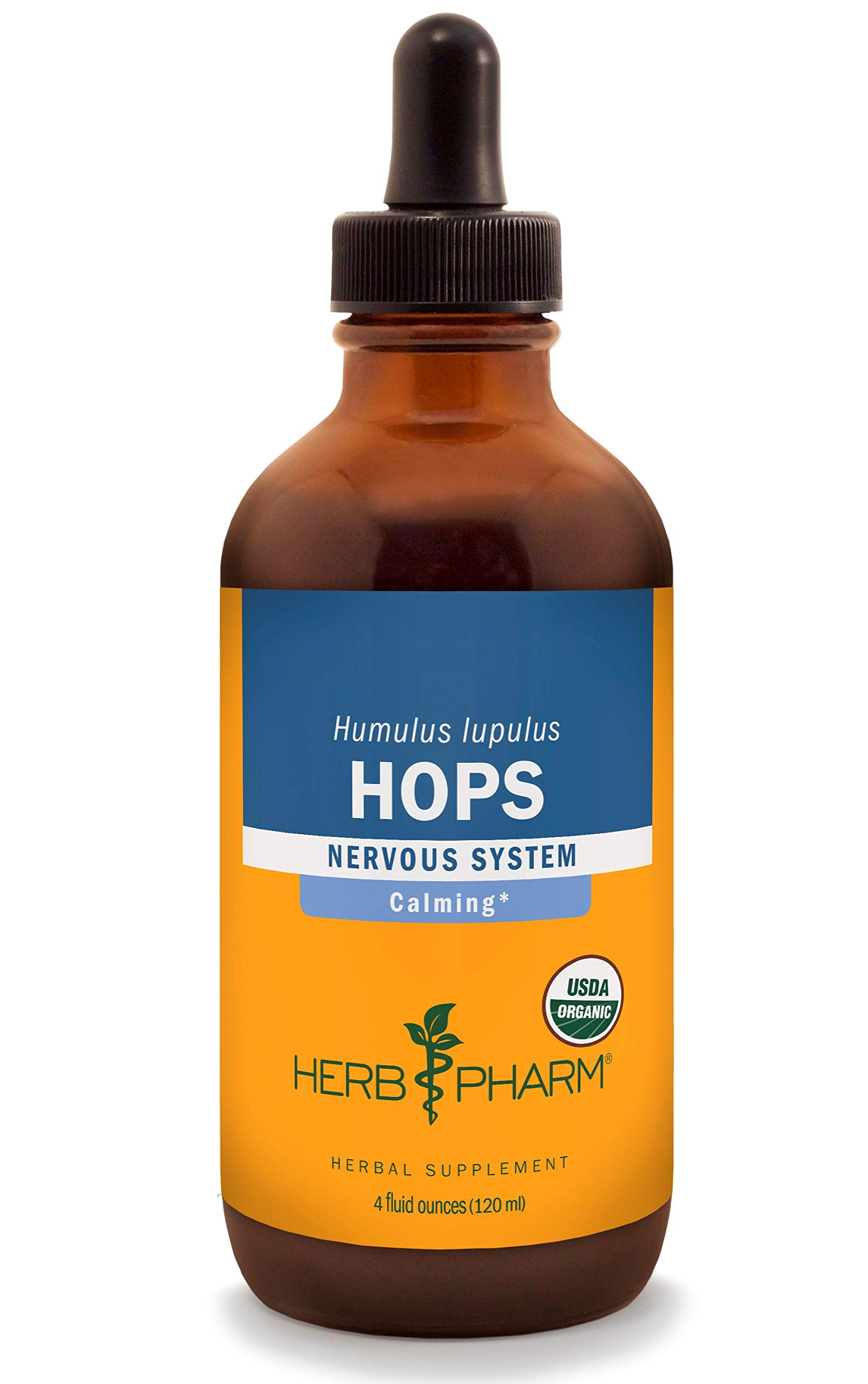 Herb Pharm Certified Organic Hops Liquid Extract for Calming Nervous System Support - 4 Ounce