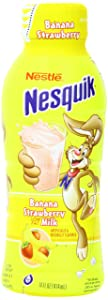 Nestle Nesquik Low Fat 1% Milk, Banana Strawberry, 14 Ounce (Pack of 12)