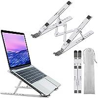 Laptopstandaard, universele geventileerde desktop laptophouder, aluminium 7 hoeken verstelbare, antislip/geventileerde…